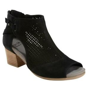 52502f857f15 Image is loading Women-039-s-Earth-Shoes-Sahara-Black-Nubuck-