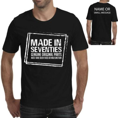 Made in 1970 Birthday T-Shirt 50 years old Original parts Mens Funny Gift