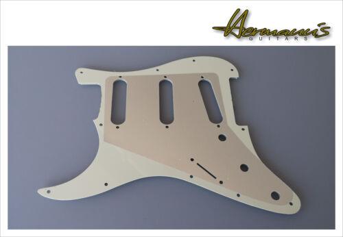 11 Lochbohrungen US Pickguard für Stratocaster Guitars Mint Schlagbrett SSS