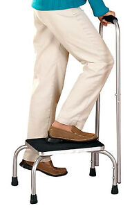 Med Foot Stool With Handle Safely Step Up Stand Alone Non