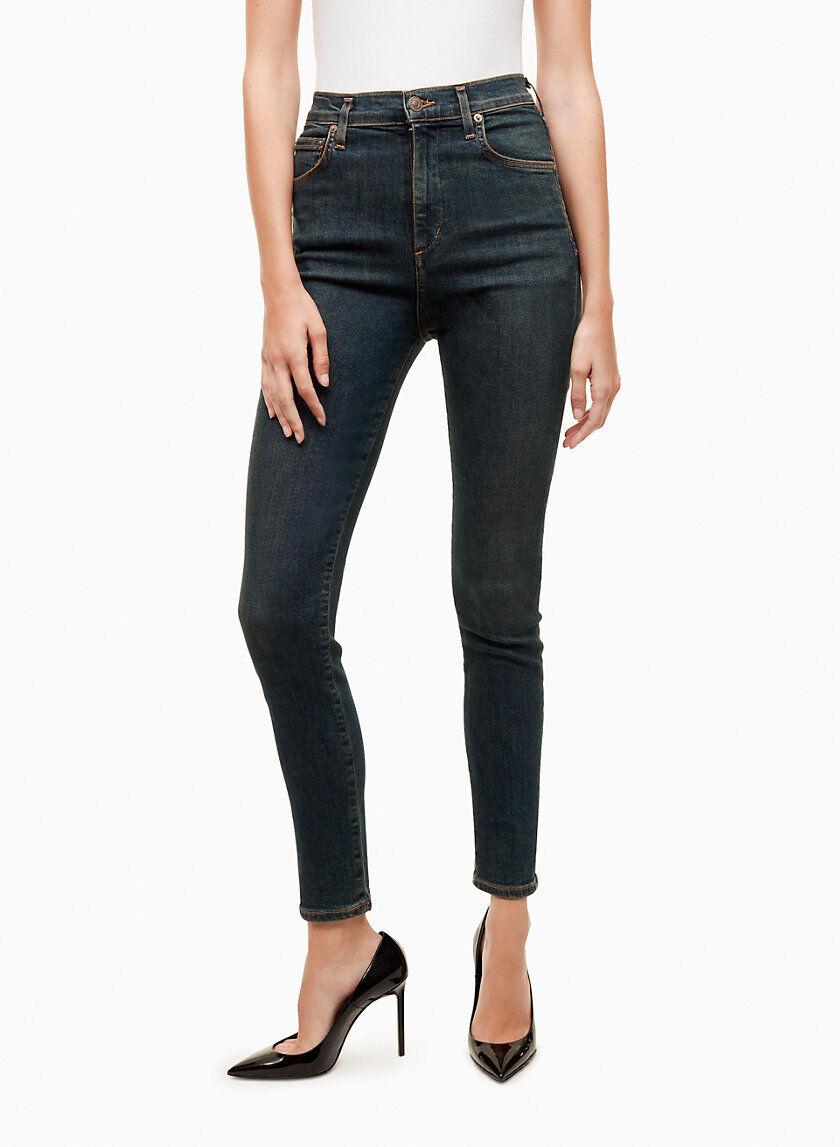 BNWT Aritzia AgoldE Sky High Skinny Marine designer Jeans size 26