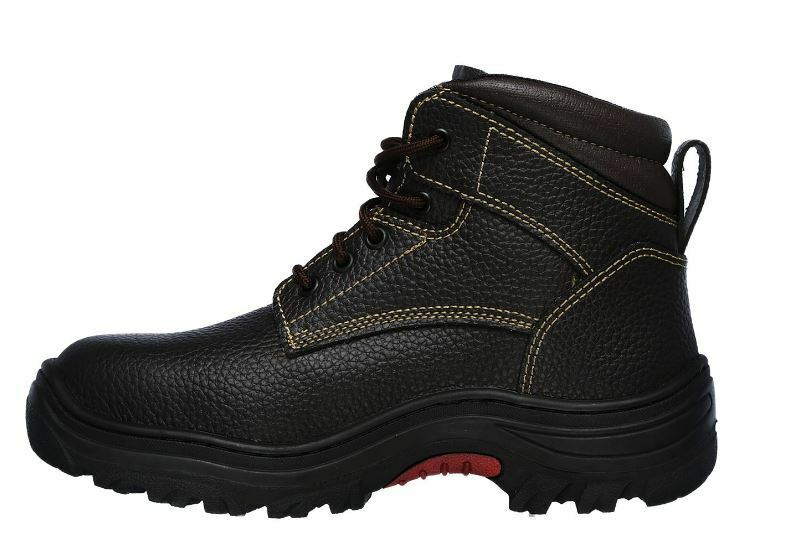 Skechers Men's Burgin-Tarlac Brown Leather Steel Toe EH Work Boot 77143/BRN