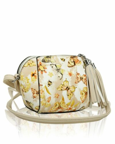 New Girl/'s Ladies Small Butterfly Print Messenger Bag With Tassel Zip//Cross Body