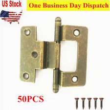 25 Pair Pack Cosmas 27550-ORB Oil Rubbed Bronze Self Closing Partial Wrap Cabinet Hinge 1//2 Inch Overlay - 50 Total Hinges 27550-ORB