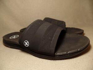 80cb2f3c0 NIKE FREE HURLEY PHANTOM Men s Black White Slipers Sandals UK 10  EU ...