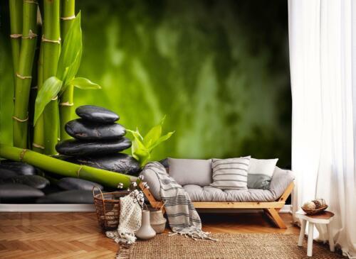 Vlies Fototapete XXL Zen Steine Bambus SPA Wohnzimmer Tapete Wandtapete 12