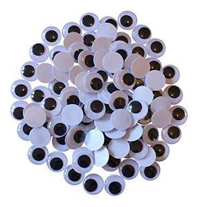 20mm-Occhioni-MATTACCHIONI-Autoadesivo-Confezione-Di-100-Wiggle-Wiggly-appiccicoso-Craft