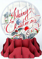 Merry Christmas Snow Globe - Up With Paper Pop-up Christmas Card