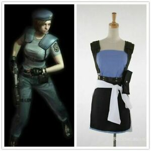 Details About New Anime Resident Evil 3 Jill Valentine Cosplay Costume Halloween