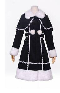 Détails sur Manteau Gothique Sweet Lolita noir‐blanc