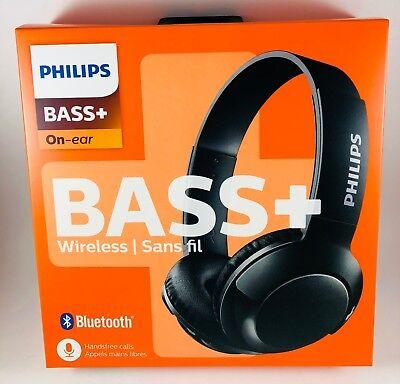 Philips Shb3075bk 27 Bass Wireless Bluetooth Onthe Ear Headphones With Mic 889446007381 Ebay
