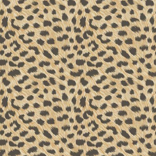 Fine Decor Animal Print Leopard Fur Effect Wallpaper Yellow Gold Metallic
