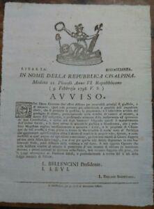 1798-MODENA-REPUBBLICA-CISALPINA-AVVISO-SU-COMMERCIANTI-APPROFITTATORI