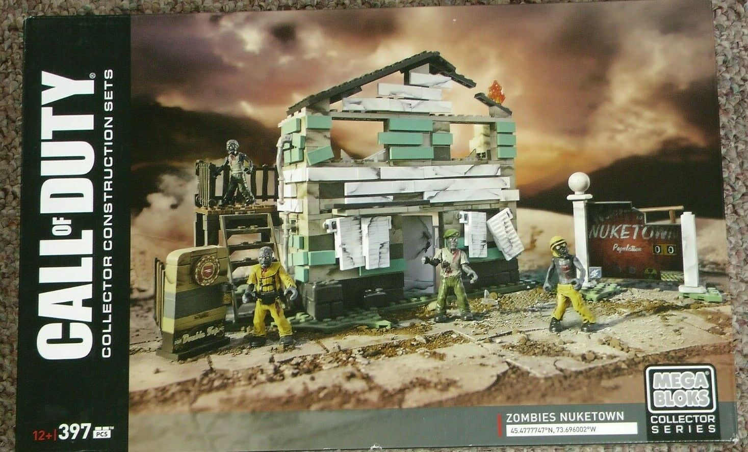 Mega Bloks Call Of Duty Zombies Nuketown For Sale Online