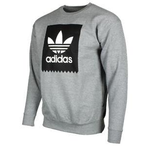 Adidas-Originals-Men-039-s-Trefoil-Blackbird-Logo-Fleece-Crew-Neck-Sweatshirt