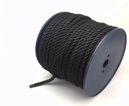 Floating Rope Softline Rope Black 3 Strand Multifilament 10mm By The Metre