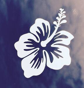 Hawaii hawaiian islands hibiscus flower 2 vinyl decal car bumper image is loading hawaii hawaiian islands hibiscus flower 2 vinyl decal mightylinksfo