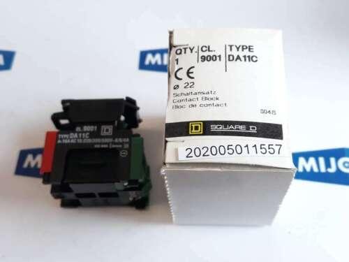 SQUARE D 9001 TYPE DA11C  CONTACT BLOCK 22mm 16A AC15 220//380//500V 8//6//4A