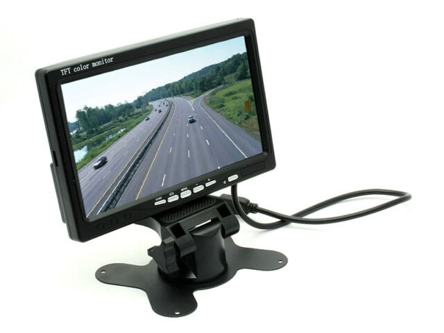 """HD 800*480P 7"""" TFT LCD Monitor 2ch Video Input for Car Revers Rear View Parking"""