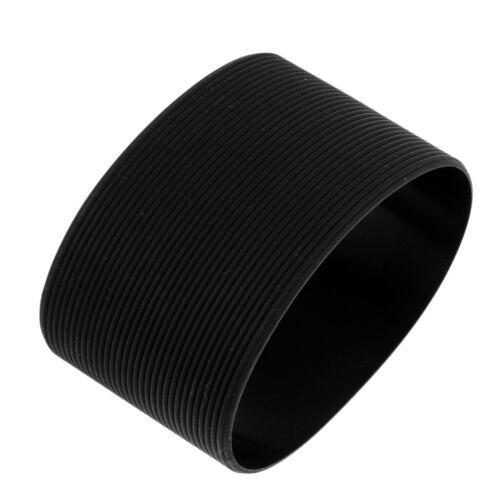 Portable Silicone Nonslip Glass Bottle Mug Cup Sleeve Protector 6.5cm Black