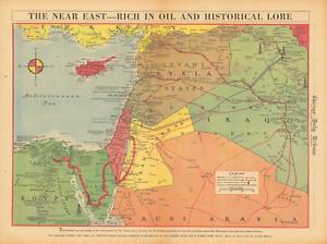 Palestine Lebanon Egypt Iraq Saudi Near East Map 1942 Extreme Def. PDF