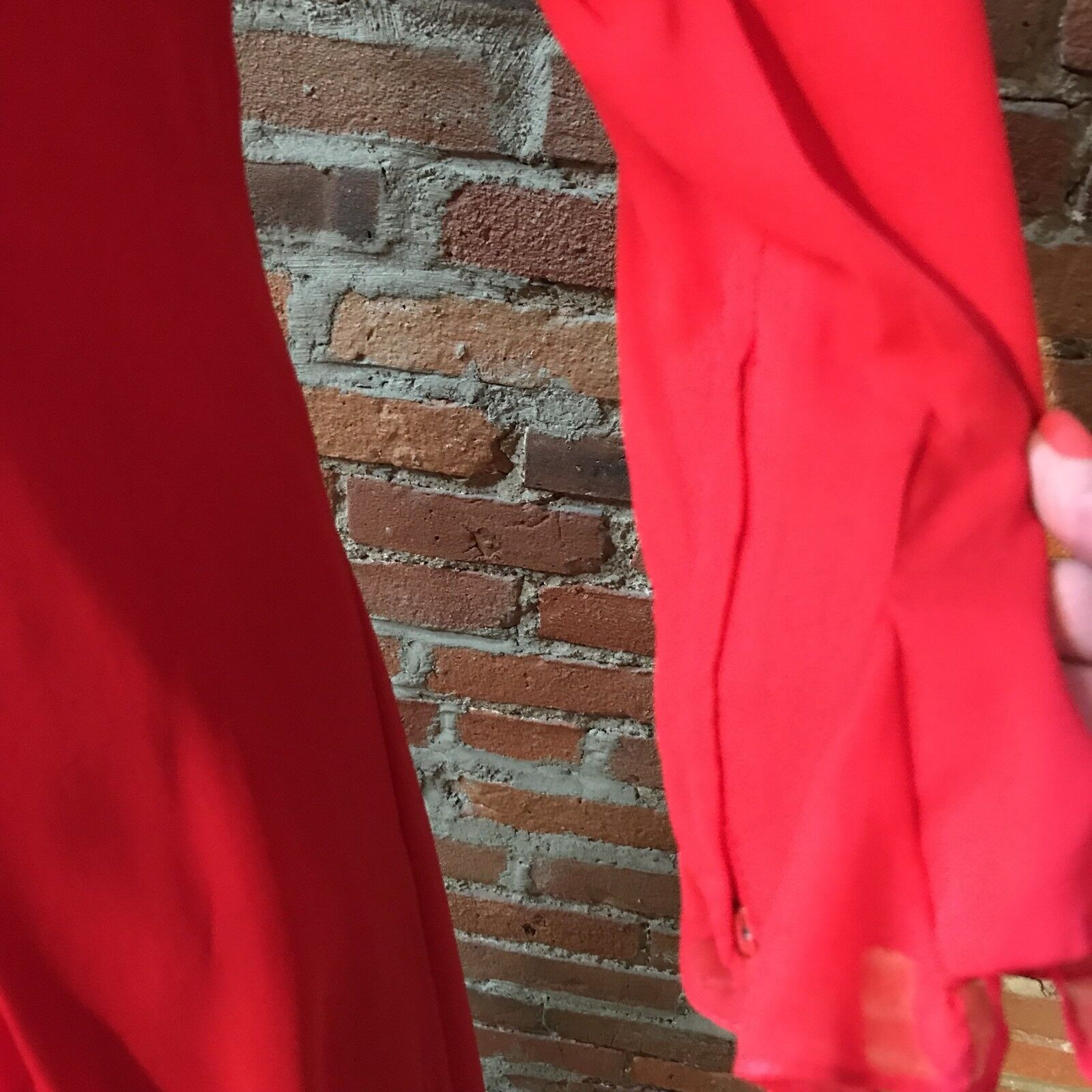 Vintage Travilla Red Silk Chiffon Dress Cocktail … - image 5