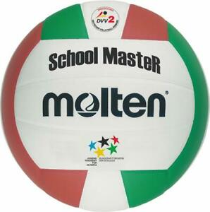 Molten volley schoolmaster Olympia scolaire volley blanc/vert/rouge taille 5