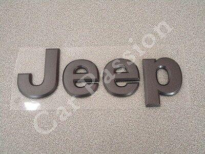 Written Crest Logo Jeep Cherokee Front Matte Black Original Front