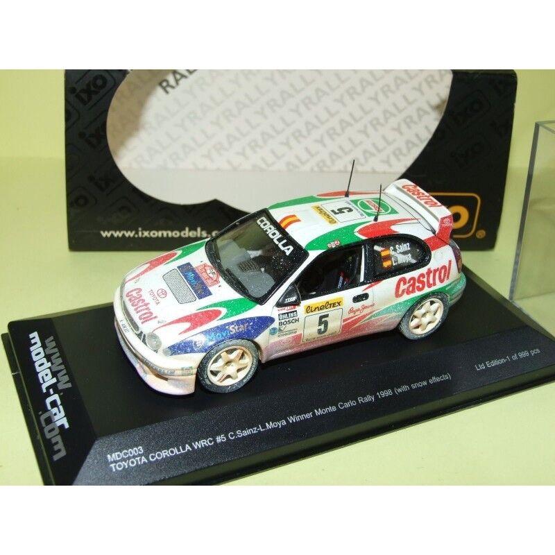 TOYOTA CorLLA WRC RALLYE du MONTE CARLO 1998 SAINZ IXO Version neige 1 43