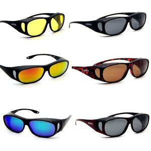 6 Colors MENS LADIES POLARIZED SUNGLASSES WRAP OVER GLASSES DRIVING ... a2cefcd70