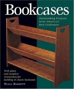 BOOKCASES-plans-instructions-11-projects-woodworking-Niall-Barrett-soft-book-New