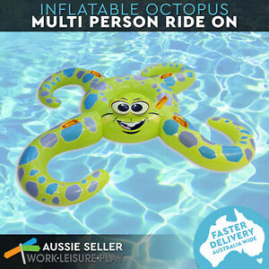 Airtime Octopus Ride-On Inflatable Pool Float Kids Toy Summer Swimming Pool