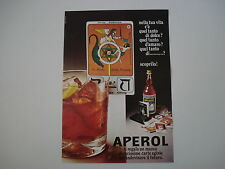 advertising Pubblicità 1973 APEROL