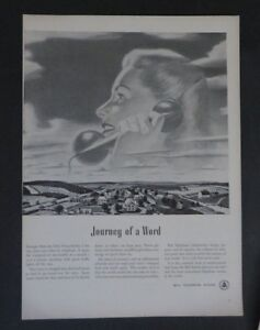 Original-Print-Ad-1948-BELL-TELEPHONE-SYSTEM-Journey-of-a-Word-Vintage-Art