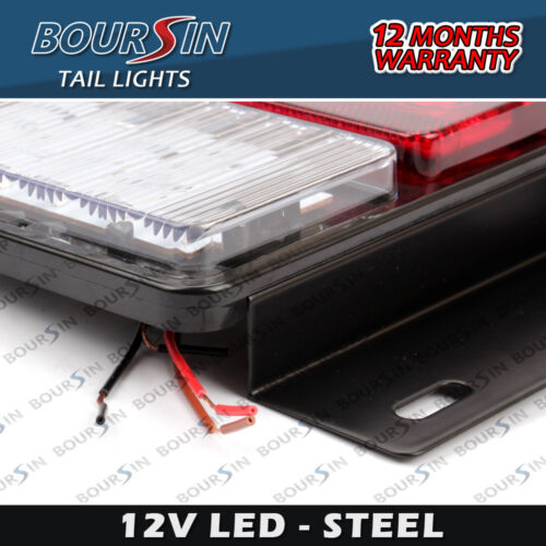 12V LED TAIL LIGHTS LAMPS FIT ISUZU NPR NHR NKR UNIVERSAL WATERPROOF IP66 STEEL