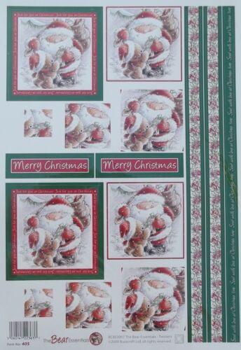 Christmas Bear Essentials Square Twisters Ref 405 Buzzcraft Die Cut Decoupage