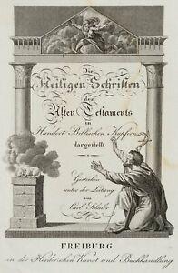 SCHULER-19-Jh-Frontispiz-Die-Heiligen-Schriften-des-Alten-Testaments-Kupferst
