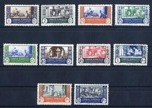 Sellos-Marruecos-1946-n-260-269-Artesania-sellos-nuevos-colonias-espanolas