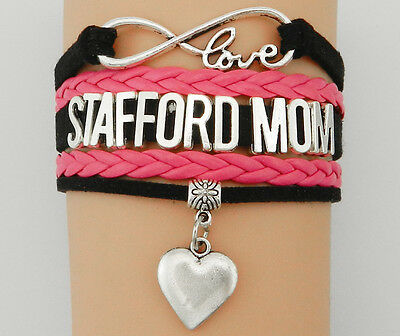 Armband Stafford Mom Hund pink silber Damen Armreif love Valentinstag Geschenk