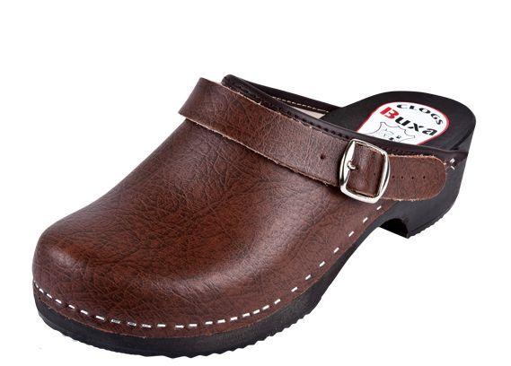 Wooden clogs  Brown color  PP1  US (Women's)  w slide back strap behind the hile