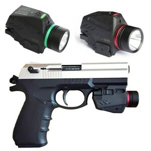 Combo Tactical LED Flashlight Red / Green Laser Sight For 20mm Rail Glock Pistol