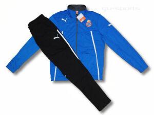 93a7726c50a2a Das Bild wird geladen PUMA-Herren-Trainingsanzug-Sportanzug-Jogginganzug -Espanyol-blau-schwarz-
