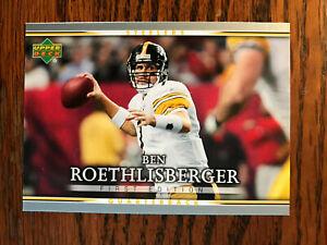 2007 Upper Deck First Edition #76 Ben Roethlisberger Football Card Steelers Raw
