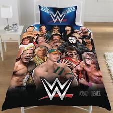 WWE WRESTLING LEGENDS SINGLE DUVET QUILT COVER SET BOYS KIDS JOHN CENA BEDROOM