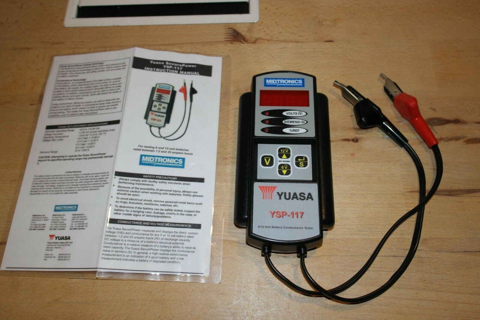 Yuasa YSP-117 Battery Tester For Various Battery 1.2Ah to 55Ah Lead Acid (VRLA)