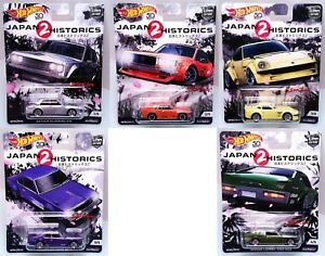 2018-Hot-Wheels-Car-Culture-Japan-Historics-2-JDM-Complete-Set-of-5