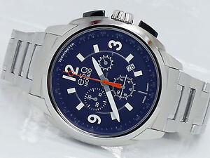 25da1a179 Image is loading NEW-ESQ-MOVADO-07301417-BLUE-CHRONOGRAPH-SWISS-QUARTZ-
