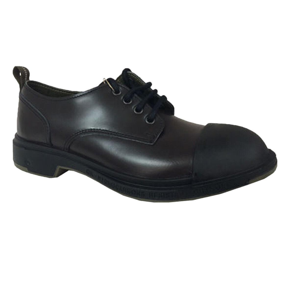 PEZZOL 1951 scarpa uomo moro/nera mod SCUD 042FZ-19 100% pelle suola in gomma