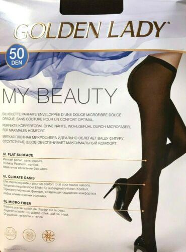 """50 Le /""""My Beauty/"""" Regard densité Collant de Golden Lady en toute transparence Noir"""