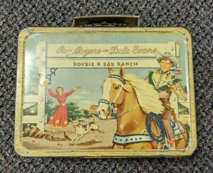 Vintage Roy Rogers and Dale Evans Double R Bar Ranch lunch box